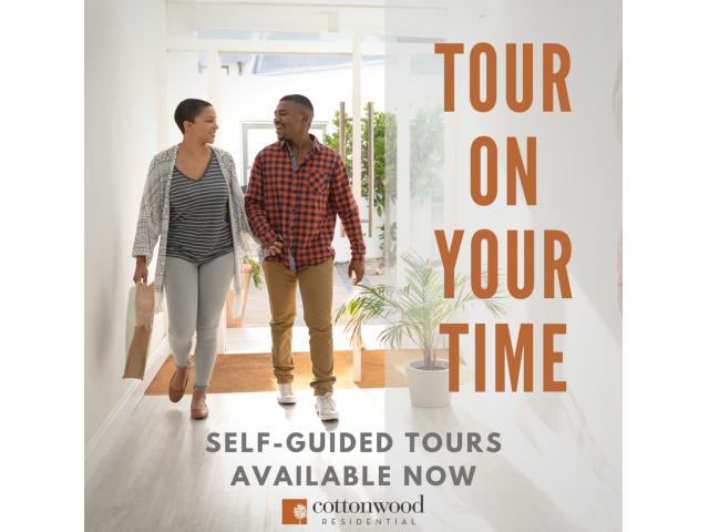 Enjoy Our Self-Guided Tours, With View of Two People Touring Apartments at Stonebriar of Frisco Apartments