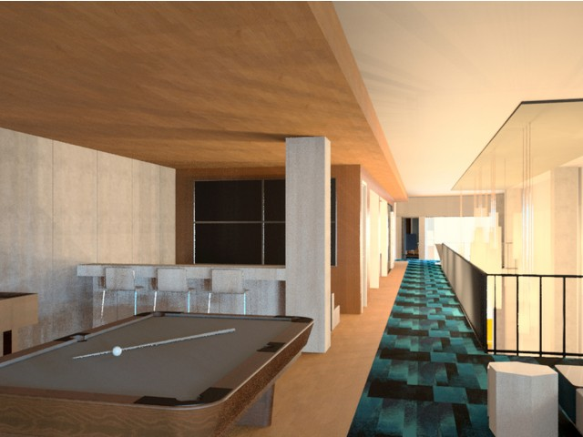 View of Billiards Lounge Area with Shuffleboard