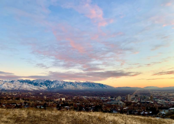 Check-out the whole Salt Lake Valley from Ensign Peak! This short trail is found right above the State Capital and Downtown Salt Lake. Ensign Peak is the perfect place to take a picnic dinner and enjoy a beautiful sunset! at Ensign Peak Trailhead