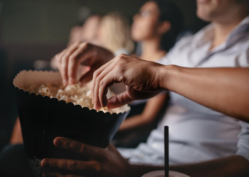 The Alamo Drafthouse Cinema is an American cinema chain founded in 1997 in Austin, Texas. It is famous for serving dinner and drinks during the movie, letting you really sit back, relax, and enjoy the show! at Alamo Drafthouse Cinema Las Colinas