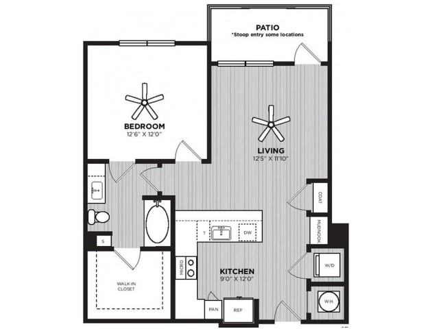 Jones Floor Plan | 1 Bedroom with 1 Bath | 770 Square Feet | Alexan Optimist Park | Apartment Homes