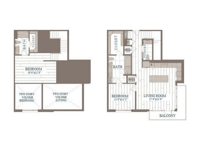 B50b-Brooklyn Floor Plan   2 Bedroom with 2.5 Bath   1404 Square Feet   The Hudson   Apartment Homes