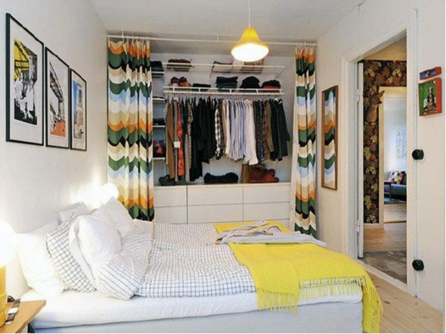 Image of Space Saving Curtain Closet - adds color and vibrancy to your room for 950 NORTHSHORE