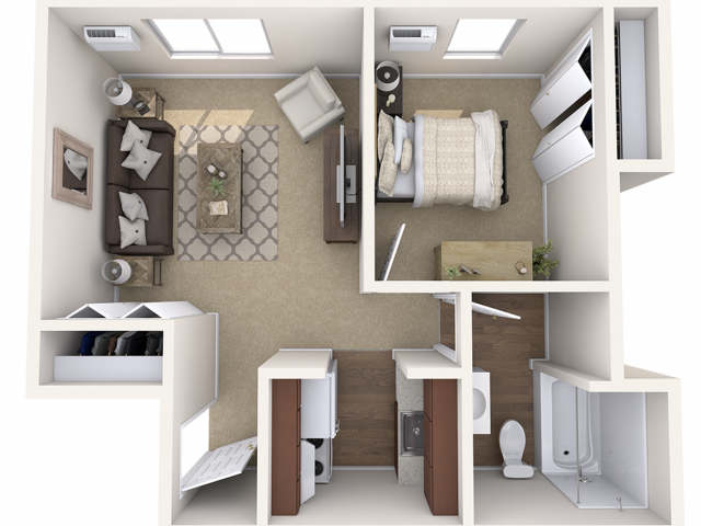 1 bedroom Junior