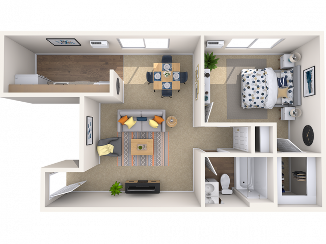 Large 1 Bedroom