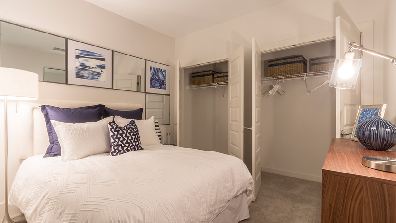 Bedroom with Double Closets | Modera Midtown