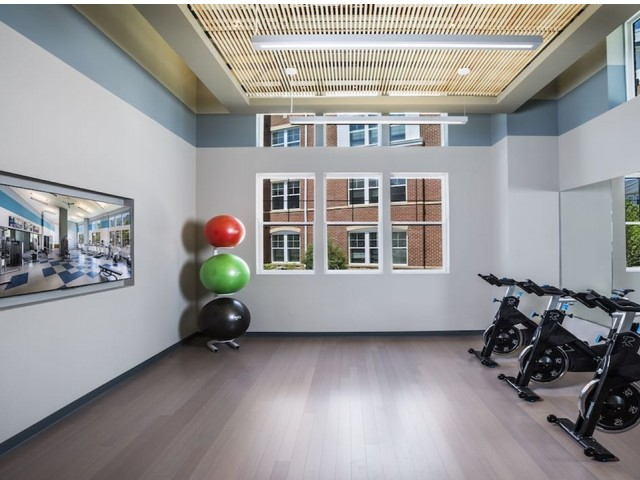 Image of Group fitness area for Modera Fairfax Ridge