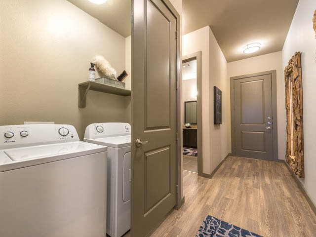 Separate Laundry Room with Washer and Dryer in Each Home | Modera Flats