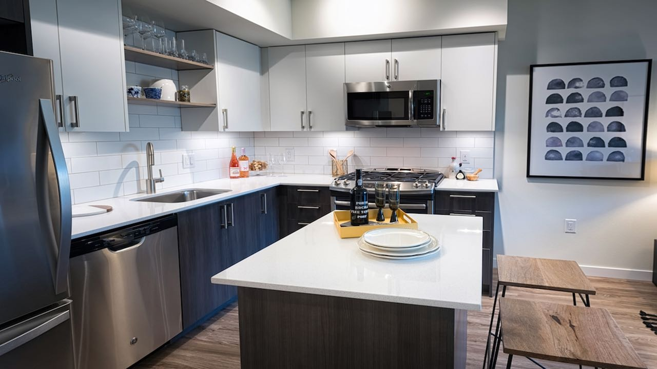 Image of Quartz counters for Modera South Lake Union