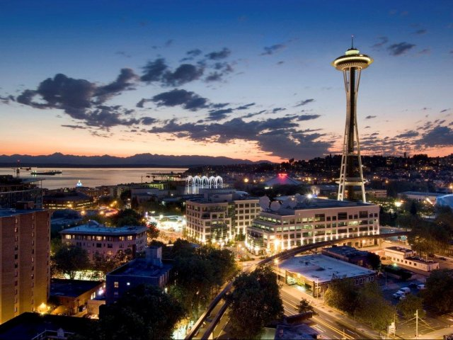 Image of Stunning views of the Space Needle, downtown skyline, Elliott Bay and Olympic Mountains for Skye at Belltown