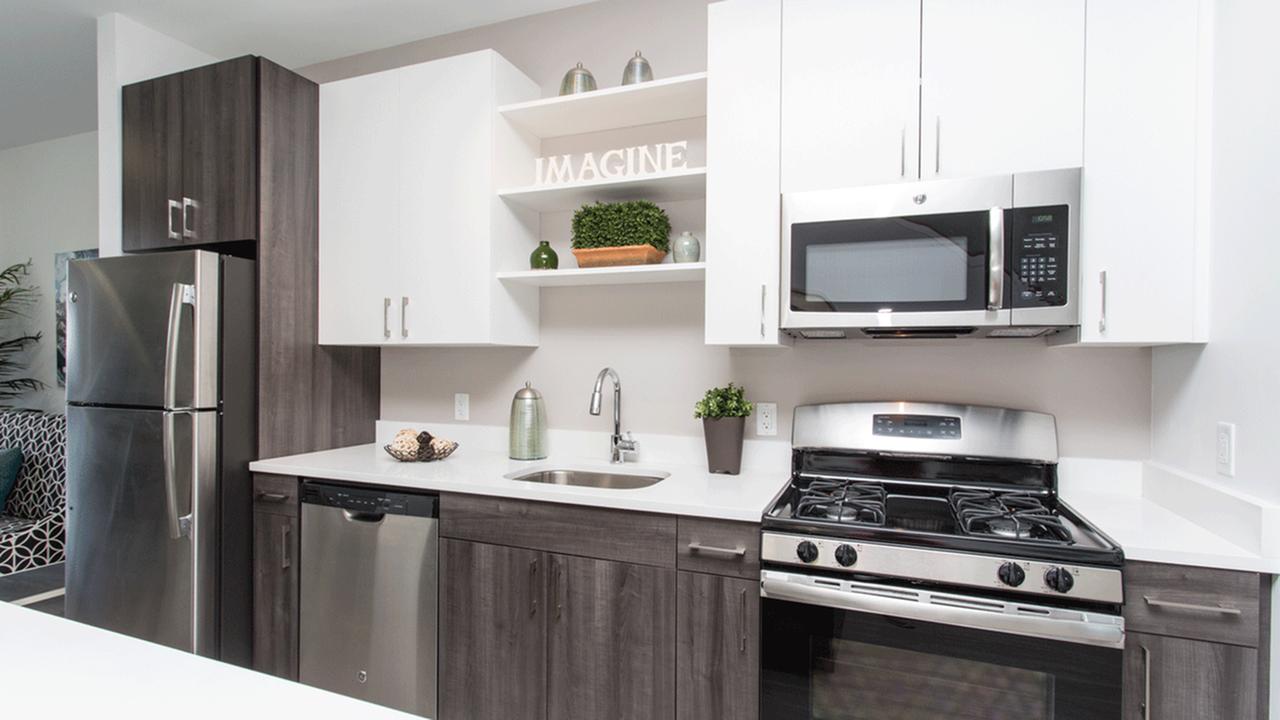 Two-Tone Custom Cabinets in Kitchen | Modera Hopkinton