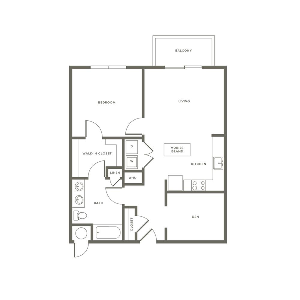 1 Bedroom Floor Plan A1D   Modera Needham   Apartments Near Needham MA