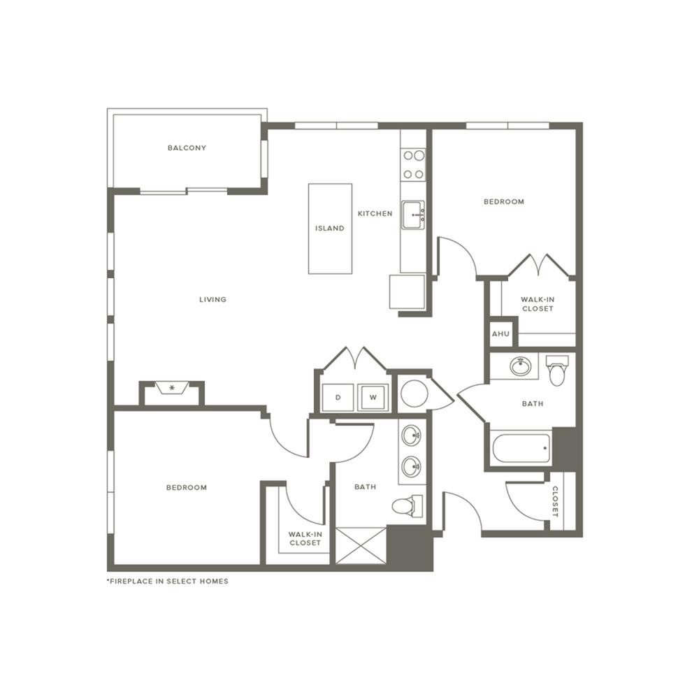 Floor Plan B2 | Modera Needham | Apartments Needham MA