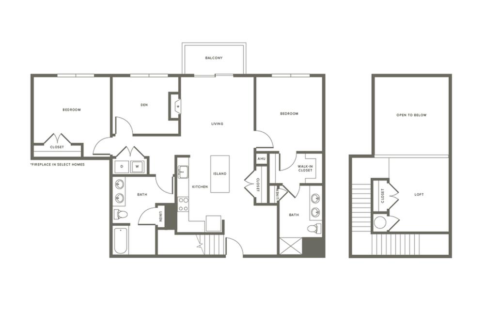 Floor Plan B3DL | Modera Needham | Needham Massachusetts Apartments