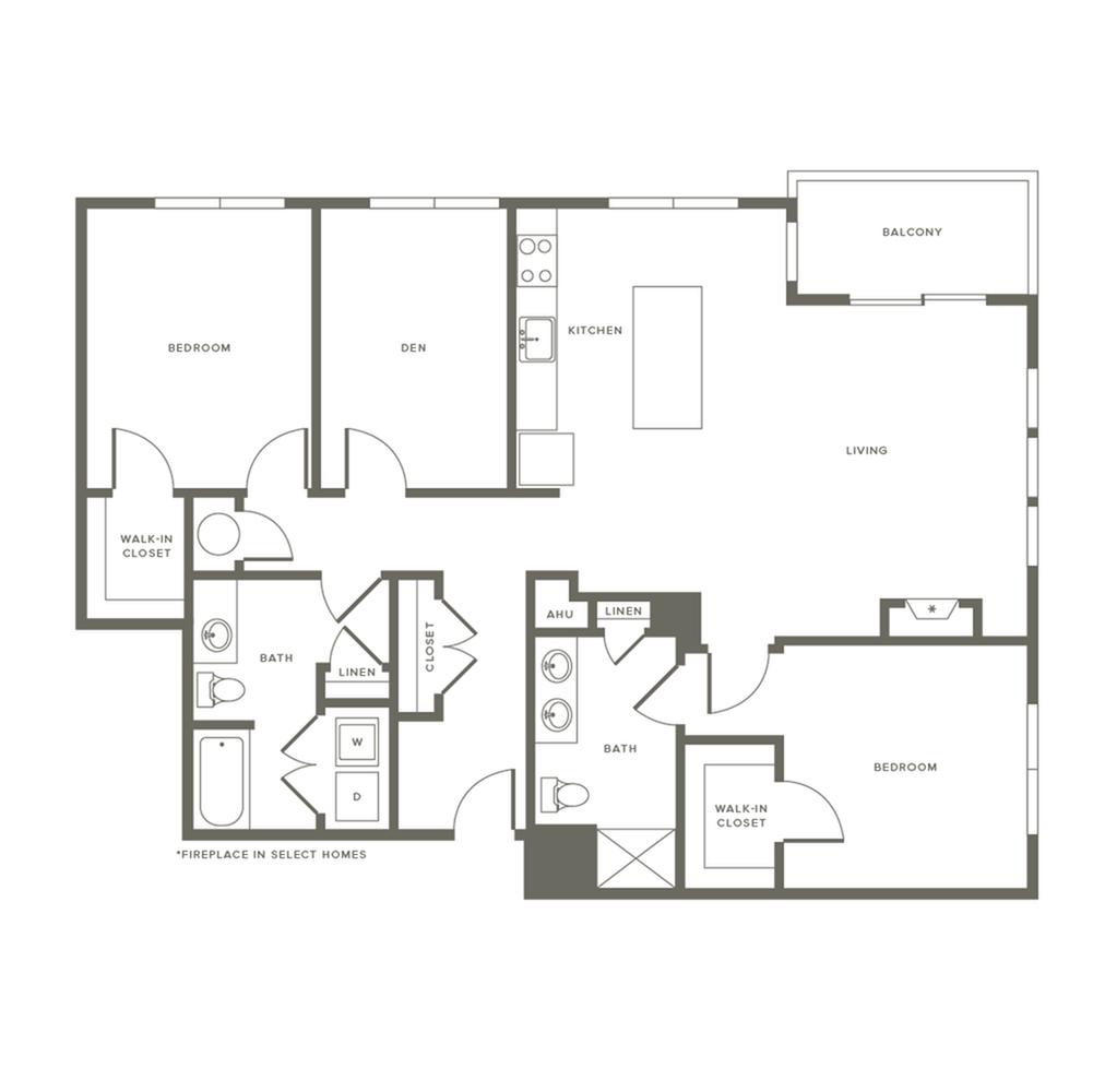 Floor Plan B4D | Modera Needham | Needham Massachusetts Apartments