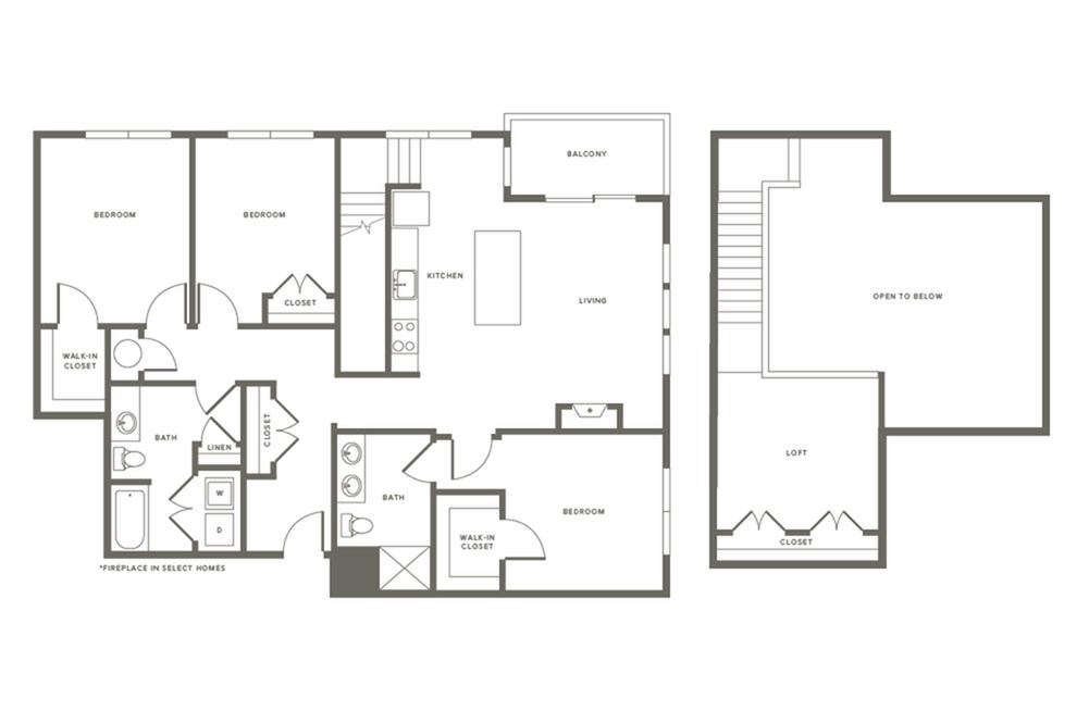 3 Bdrm Floor Plan C1L | Modera Needham | Apartments Near Needham MA