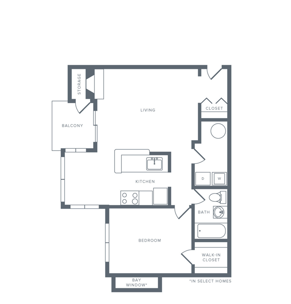 Floor Plan 1 | Columbia MD Apartments | Alister Columbia