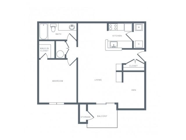 Floor Plan 4 | Studio Apartments in Columbia MD | Alister Town Center Columbia
