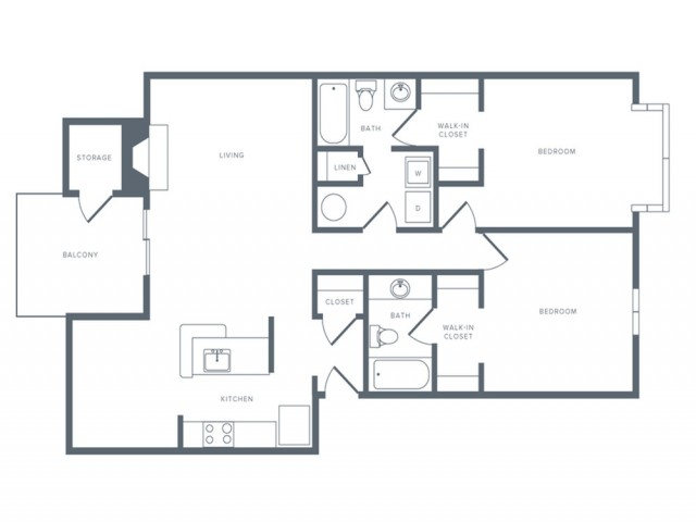 Floor Plan 5 | Columbia MD Studio Apartments | Alister Town Center Columbia