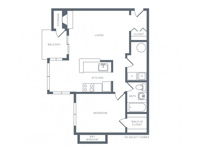 Floor Plan 2 | Apartments Columbia MD | Alister Columbia