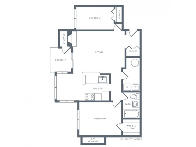 Floor Plan 3 | Apartments in Columbia MD | Alister Columbia
