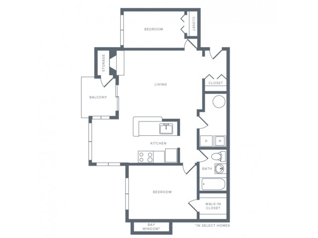 Floor Plan 4 | Studio Apartments in Columbia MD | Alister Columbia