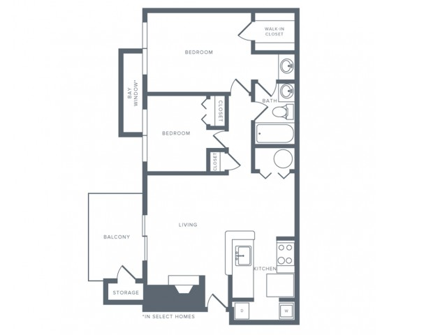 Floor Plan 5 | Columbia MD Studio Apartments | Alister Columbia