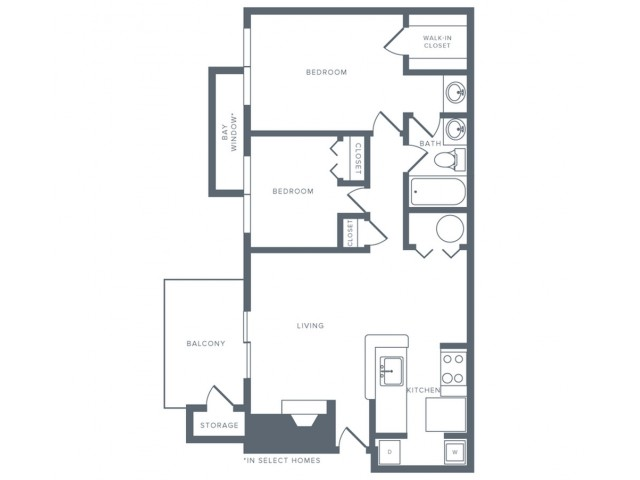 Floor Plan 6 | Columbia MD Apartments | Alister Columbia