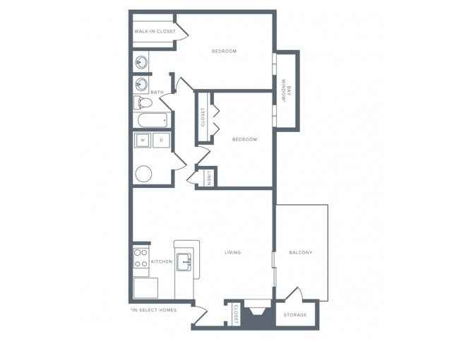 Floor Plan 9 | Studio Apartments in Columbia MD | Alister Columbia