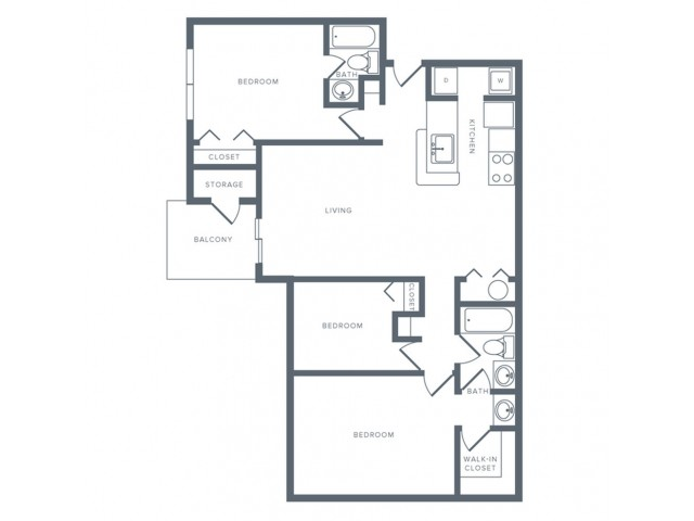 Floor Plan 12 | Apartments Columbia MD | Alister Columbia