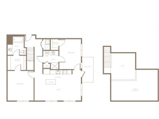 Two Bedrooms Loft