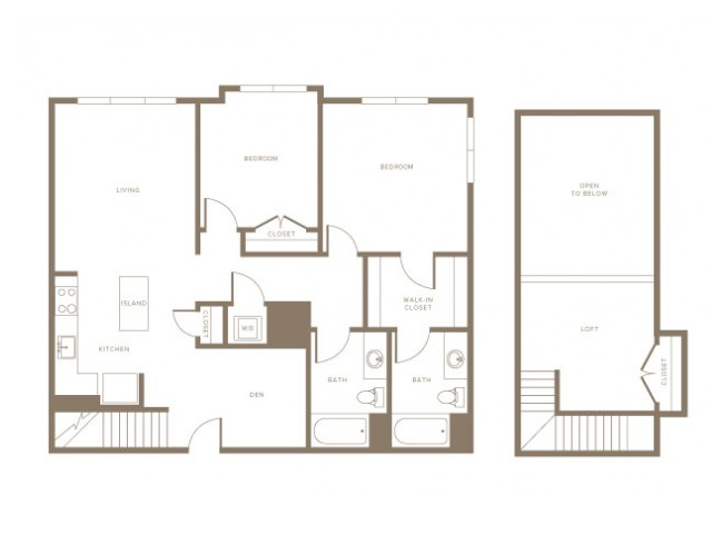 Two Bedrooms and Loft