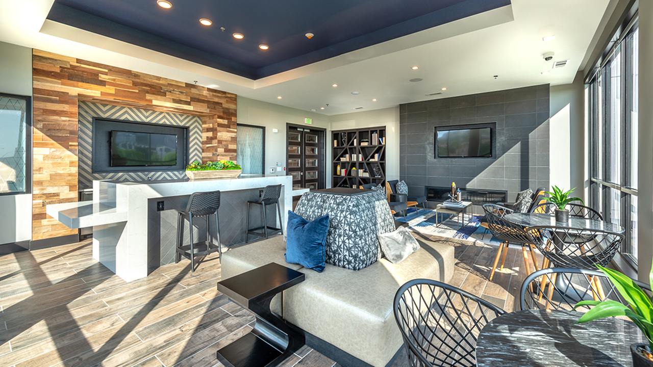 Well Appointed Resident Lounge with Social Seating Great for Work or Play