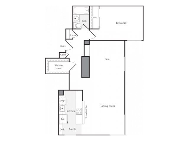 One Bedroom/Den E