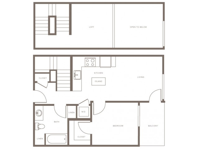 One Bedroom w/ Loft- A1L