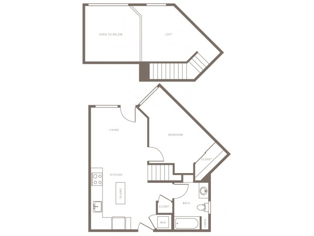One Bedroom w/ Loft- A3L