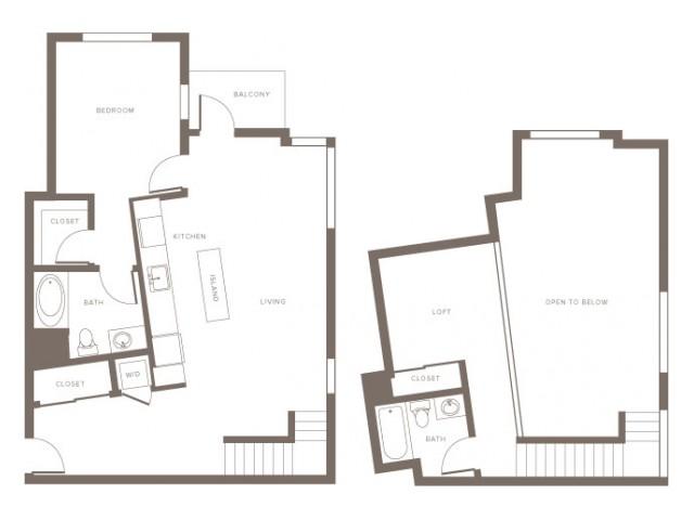 One Bedroom w/ Loft- A6L