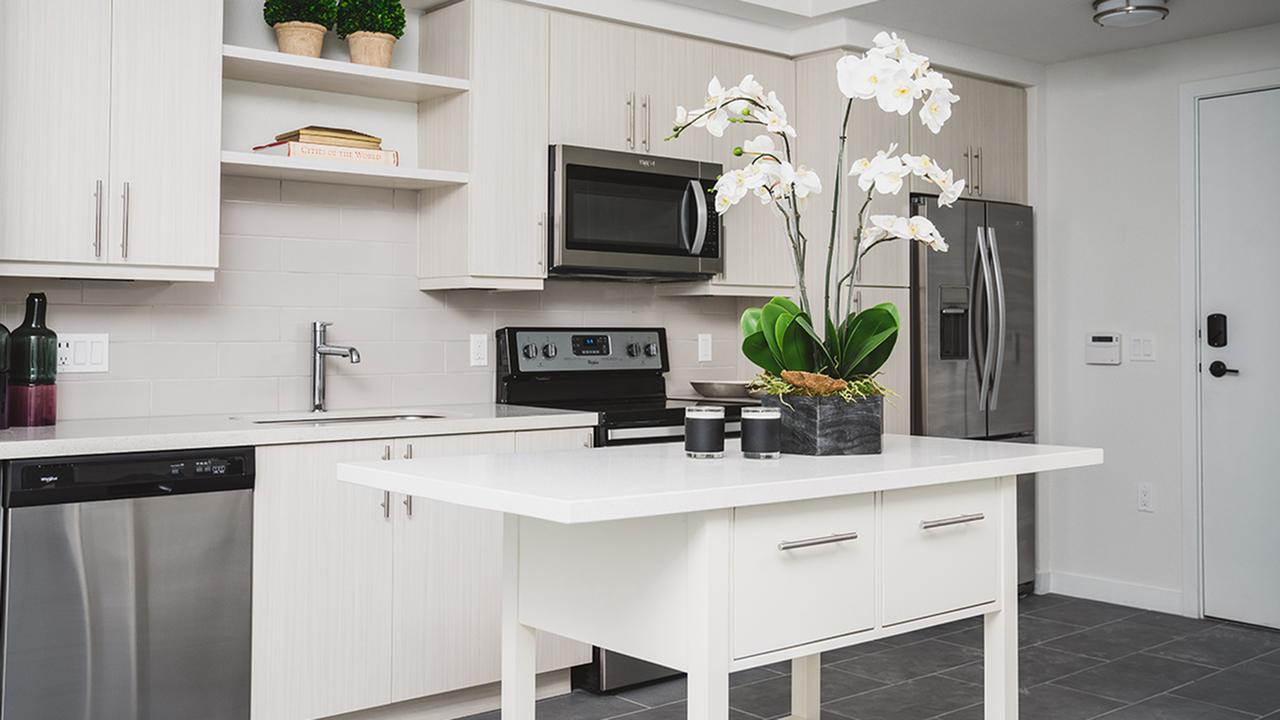 Kitchen Islands   Preleasing   Modera Edgewater   Apartment Homes   Miami, Florida