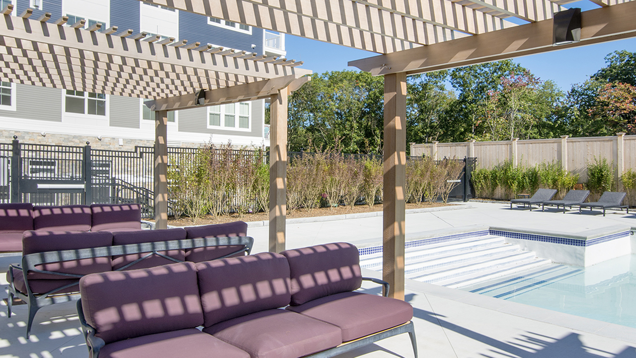 Salt Water Pool and Sun Deck | Modera Needham | Apartment Homes | Needham, MA Apartments