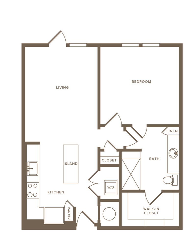 Floor Plan A08 | Modera Howell | Apartments Dallas TX