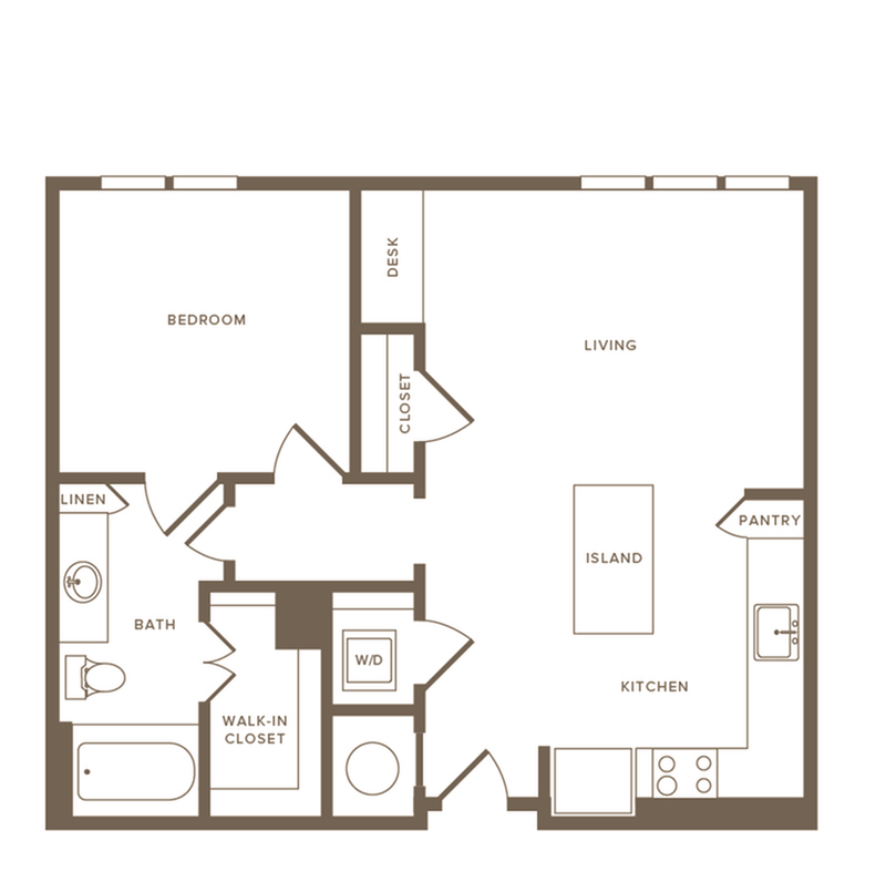 Floor Plan A09 | Modera Howell | Dallas Texas Apartments