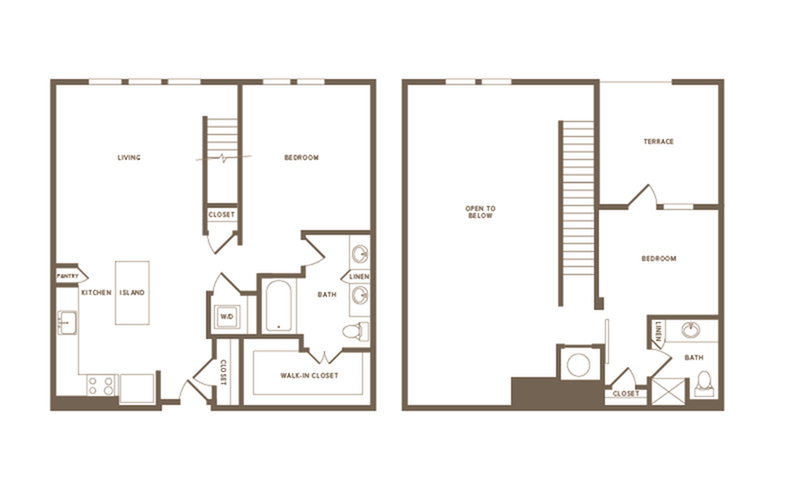 Spacious Floor Plans B15 Penthouse | Modera Howell | Dallas Texas Apartments