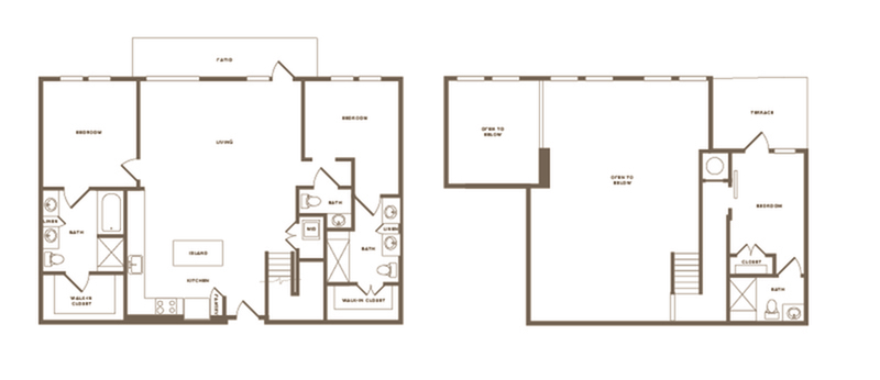 Floor Plan C03 Penthouse | Modera Howell | Dallas Apartments For Rent