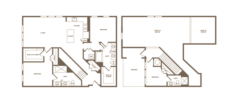 Floor Plan C04 Penthouse   Modera Howell   Dallas Texas Apartments