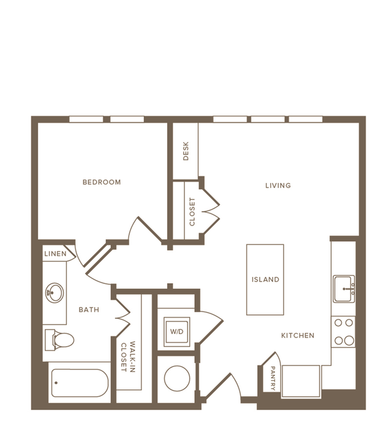 Floor Plan A04 | Modera Howell | Dallas Texas Apartments