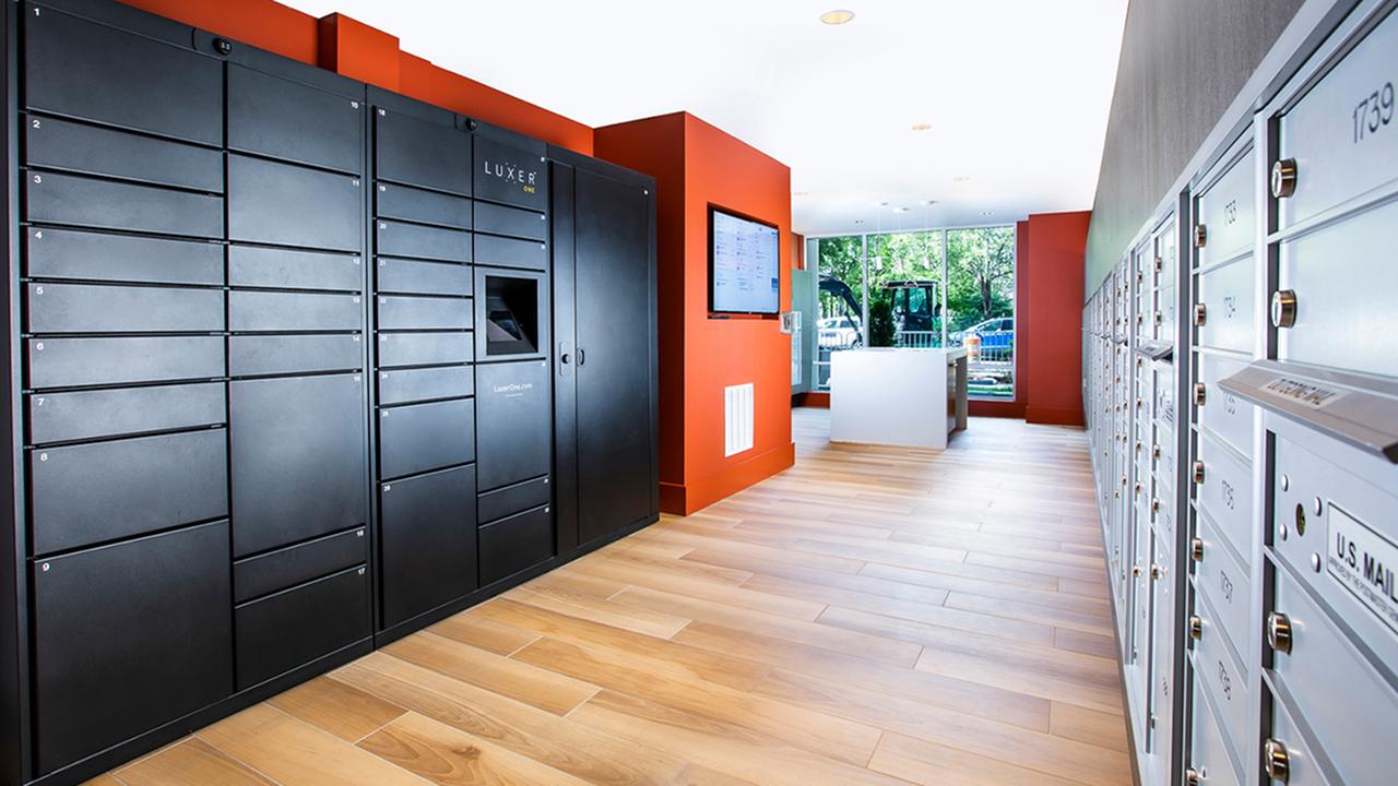 Self service package lockers