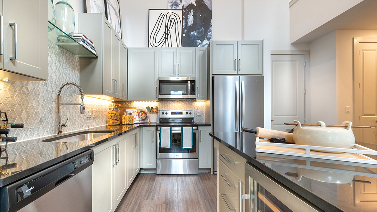 Modern Kitchen with Generous Cabinet Space