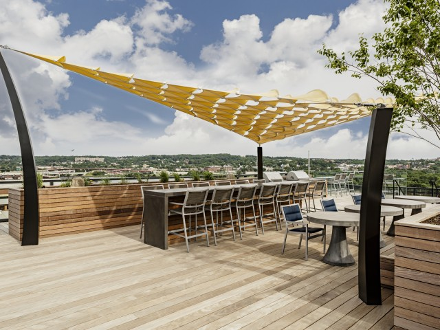 Arris |  Beautiful rooftop terrace overlooking the city.