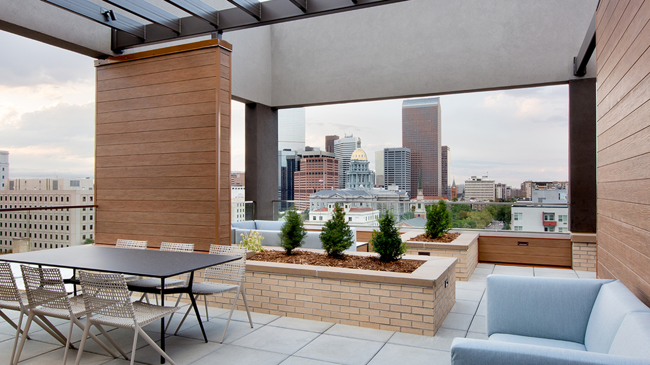 Rooftop seating and views