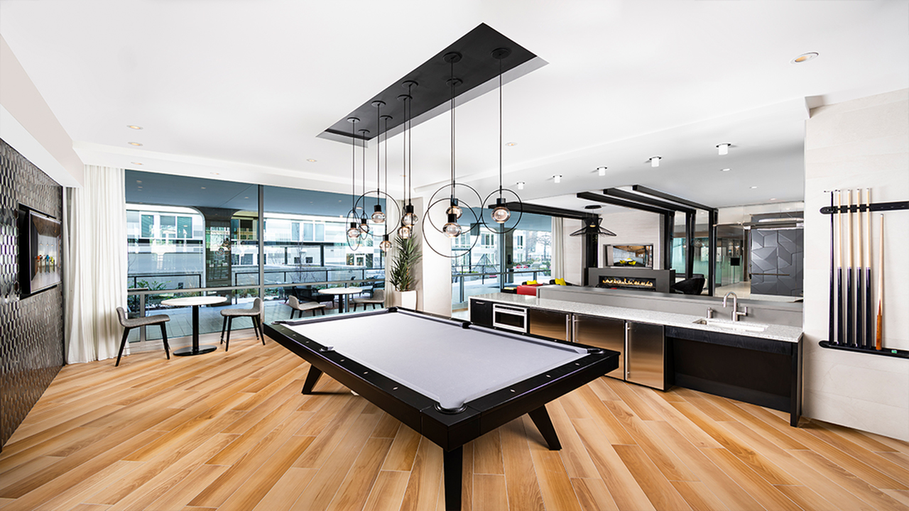 Billiard Lounge with Kitchenette